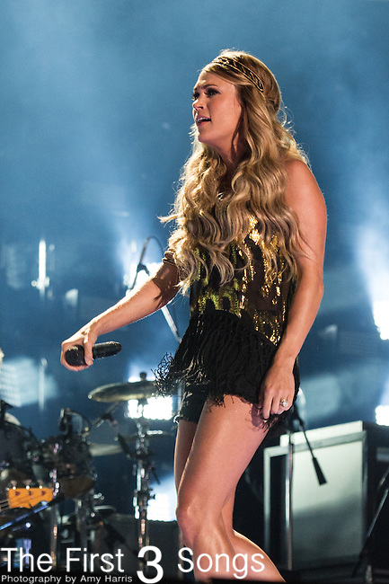 Carrie Underwood performs at LP Field during Day Three of the 2014 CMA Music Festival in Nashville, Tennessee.
