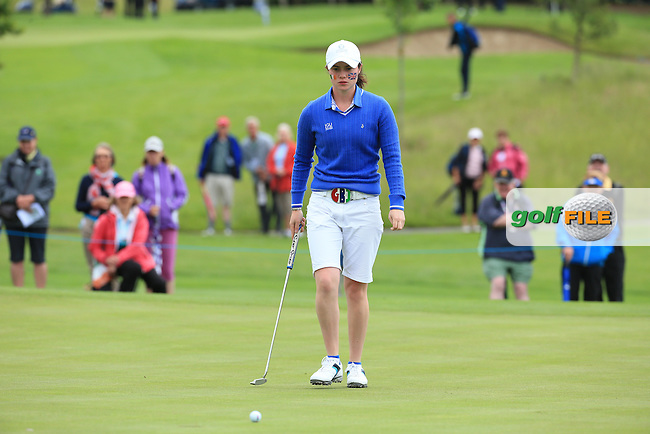 Leona Maguire during the Sunday Singles at the 2016 Curtis Cup, played at Dun Laoghaire GC, Enniskerry, Co Wicklow, Ireland. 12/06/2016. Picture: David Lloyd | Golffile. <br /> <br /> All photo usage must display a mandatory copyright credit to &copy; Golffile | David Lloyd.