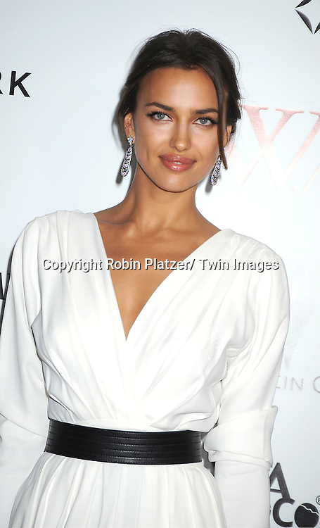 """model Irina Shayk arrives for the New York Premiere of """"W.E."""" on ..January 23, 2012 at The Ziegfeld Theatre in New York City. Madonna directed the movie. The sponsors of the premiere are The Weinstein Company, The Cinema Society and Forevermark."""
