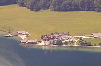 Blick auf St. Bartholomää am Königssee - Berchtesgaden 17.07.2019: Fahrt auf den Jenner