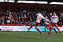 Dani Lopez of Stevenage scores his second goal. Stevenage v Sheffield United - npower League 1 -  Lamex Stadium, Stevenage - 16th March, 2013. © Kevin Coleman 2013.. . . .