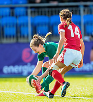 9nd February 2020; Energia Park, Dublin, Leinster, Ireland; International Womens Rugby, Six Nations, Ireland versus Wales; Lauren Delany (Ireland) touches down to score a try