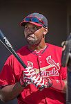 9 March 2014: St. Louis Cardinals outfielder Joey Butler prepares for batting practice prior to a Spring Training game against the Washington Nationals at Space Coast Stadium in Viera, Florida. The Nationals defeated the Cardinals 11-1 in Grapefruit League play. Mandatory Credit: Ed Wolfstein Photo *** RAW (NEF) Image File Available ***