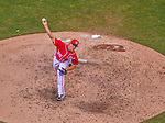 27 July 2013: Washington Nationals pitcher Tyler Clippard on the mound against the New York Mets at Nationals Park in Washington, DC. The Nationals defeated the Mets 4-1. Mandatory Credit: Ed Wolfstein Photo *** RAW (NEF) Image File Available ***