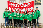 Knockanure Vintage Rally: Displaying the bronze medals that they won at the Community Games in Athlone were the Moyvane /Knockanure U/12 girls soccer team at  the Knockanure Vintage rally on Sunday last.  L-R : Catherine Keane, coach, Keire Large, Katie Keane, Tara Enright, Lauren Duffy, Mary Kearney, Ava Fitzgerald, Megan Large & Pat Fitzgerald, coach.