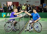 Februari 12, 2015, Netherlands, Rotterdam, Ahoy, ABN AMRO World Tennis Tournament, Maikel Scheffers (NED) - Gustavo Fernandez (ARG)<br /> Photo: Tennisimages/Henk Koster
