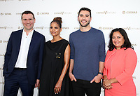 "LOS ANGELES, CA July 13- Alexandre Ricard, Halle Berry, Adam Braun, Sonal Shah, At Chivas Regal ""The Final Pitch"" at The LADC Studios, California on July 13, 2017. Credit: Faye Sadou/MediaPunch"