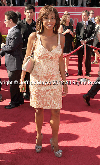 LOS ANGELES, CA - JULY 11: Holly Robinson Peete arrives at the 2012 ESPY Awards at Nokia Theatre L.A. Live on July 11, 2012 in Los Angeles, California.