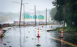 WATERBURY , CT-080420JS06—a portion of Watertown Avenue in Waterbury was closed down from damage as Tropical Storm Isaias tore through the region on Tuesday leaving a path of damage and many without power. <br /> Jim Shannon Republican-American