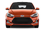 Car photography straight front view of a 2015 Hyundai I20 Sport 3 Door Hatchback Front View