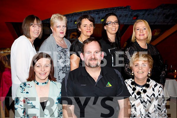 Adapt Charity Shop volunteers having night out in Restaurant Uno. Seated l-r, Sharon Brosnan, Danny Foley and Brigid O'Sullivan. Back l-r, Angela Mitchel, Teresa Perez, Siobhan Coffey, Louise O'Connell and Helena Cahill.