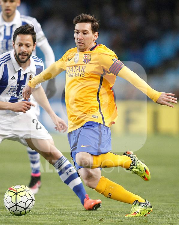FC Barcelona's Leo Messi during La Liga match. April 9,2016. (ALTERPHOTOS/Acero)