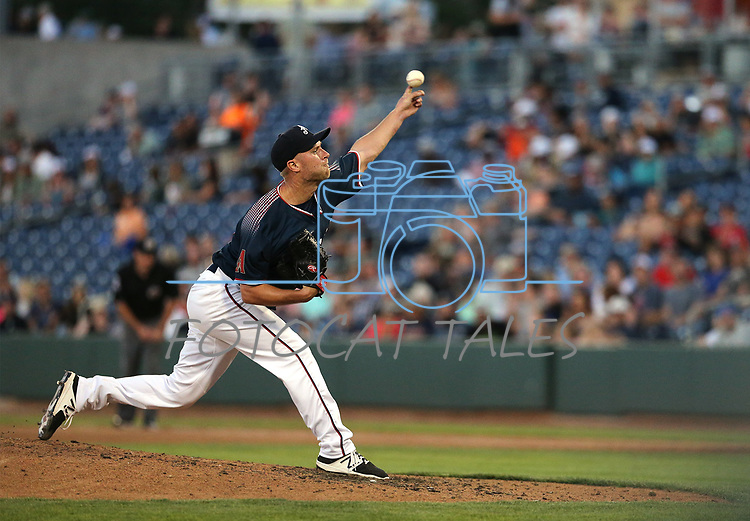 Reno Aces&rsquo; Eric Jokisch pitches against the Las Vegas 51s in Reno, Nev. on Saturday, June 3, 2017. The 51s won 9-5.<br /> Photo by Cathleen Allison/Nevada Photo Source