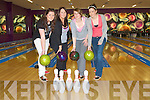 BOWLING: Great night of bowling at the Bowling Buddiesw Ally, Manor Industrial Estate, Tralee on Monday evening. l-r: Juliette and Elanine Murphy, Brigitte Sheehan and Klara O'Donoghue (Killarney)..