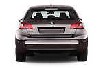 Straight rear view of 2015 Peugeot 308 Feline 5 Door Hatchback Rear View  stock images