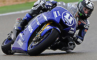 Yamaha Factory Rider Ben Spies heads hit  first first day at Aragon Moto Gp Grand Prix 2012