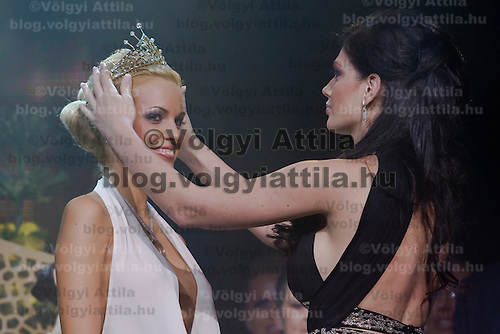 Reka Urban is the winner of Miss Plastic Hungary 2009 beauty contest for beauties with surgically enhanced bodies, Budapest, Hungary. Saturday, 10. October 2009. ATTILA VOLGYI