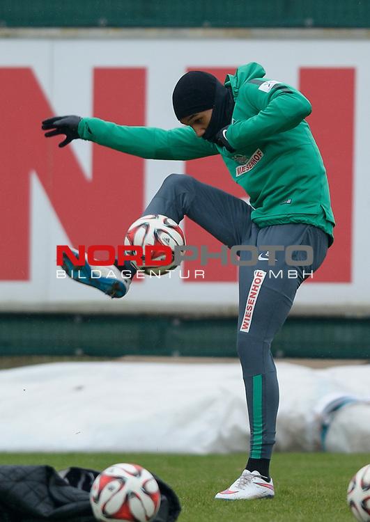 20.02.2015, Trainingsgelaende, Bremen, GER, 1.FBL, Training Werder Bremen, im Bild Theodor Gebre Selassie (Bremen #23)<br /> <br /> Foto &copy; nordphoto / Frisch