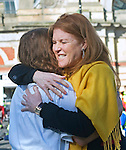"PRINCESS  EUGENIE.completes her 100km moonlit ride through London starting at Alexandra Palace, London_10/06/2012.Mum Sarah Ferguson was omn hand to greet her daughter with a hug on the finish line..Princess Eugenie of York was fundraising for two charities: the Royal National Orthopaedic Hospital Appeal, of which HRH is Patron, and the MCC Foundation who are supporting the Rwanda Cricket Stadium Foundation?s aim to raise £400,000 to build the first ever national cricket stadium in Rwanda. .While the capital slept, 3000 Nightriders were expected to be raise £1 million in one night for 250 charities..Mandatory credit photo: ©Dias/NEWSPIX INTERNATIONAL..(Failure to credit will incur a surcharge of 100% of reproduction fees)..                **ALL FEES PAYABLE TO: ""NEWSPIX INTERNATIONAL""**..IMMEDIATE CONFIRMATION OF USAGE REQUIRED:.DiasImages, 31a Chinnery Hill, Bishop's Stortford, ENGLAND CM23 3PS.Tel:+441279 324672  ; Fax: +441279656877.Mobile:  07775681153.e-mail: info@newspixinternational.co.uk"