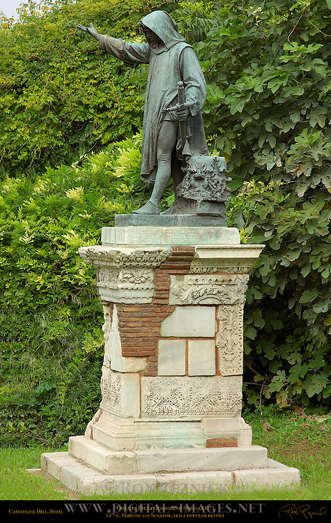 Cola di Rienzi Statue Girolamo Masini Cordonata Campidoglio Capitoline Hill Rome