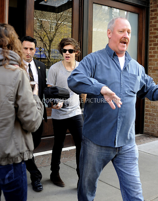 WWW.ACEPIXS.COM....December 4 2012, New York City....Musician Harry Styles leaves Taylor Swift's Tribeca hotel having spent the night there on December 4 2012 in New York City........By Line: Curtis Means/ACE Pictures......ACE Pictures, Inc...tel: 646 769 0430..Email: info@acepixs.com..www.acepixs.com