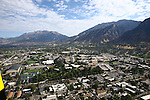 1309-22 0870<br /> <br /> 1309-22 BYU Campus Aerials<br /> <br /> Brigham Young University Campus South looking North, Provo, South Campus, Mount Timpanogos, South Campus, Maeser Hill<br /> <br /> September 6, 2013<br /> <br /> Photo by Jaren Wilkey/BYU<br /> <br /> © BYU PHOTO 2013<br /> All Rights Reserved<br /> photo@byu.edu  (801)422-7322