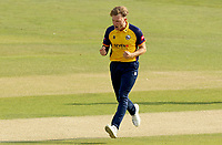 Sam Cook of Essex celebrates taking the wicket of Will Jacks during Essex Eagles vs Surrey, Vitality Blast T20 Cricket at The Cloudfm County Ground on 11th September 2020