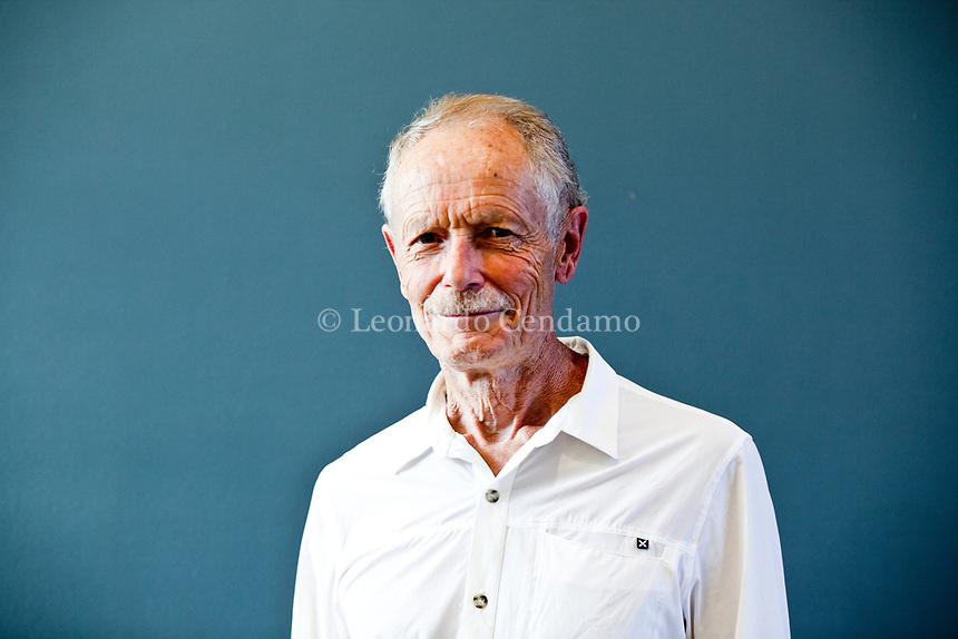Enrico De Luca, è uno scrittore, giornalista, poeta e traduttore italiano, cultore italiano. Manntova 5 settembre 2019. Photo Leonardo Cendamo
