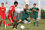 06 January 2012: Rafael Garcia (CS Northridge) (81) and Jason Banton (ENG) (60). The 2012 MLS Player Combine was held on the cricket oval at Central Broward Regional Park in Lauderhill, Florida.