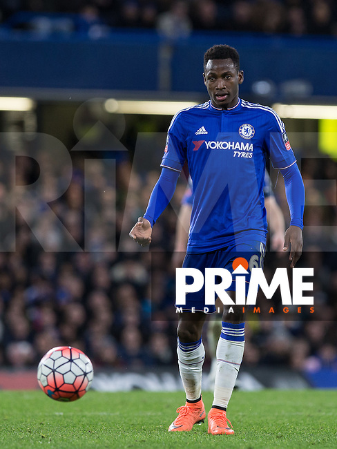 Baba Rahman of Chelsea during the FA Cup 5th round match between Chelsea and Manchester City at Stamford Bridge, London, England on 21 February 2016. Photo by Andy Rowland.