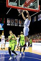 GRONINGEN - Basketbal, Donar - Dinamo Sassari, Martiniplaza, Europe Cup, seizoen 2018-2019, 12-12-2018,  dunk Donar speler Shane Hammink