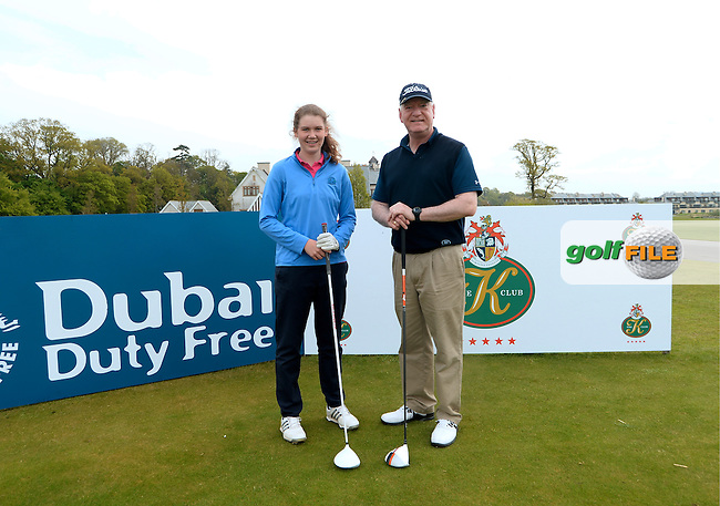 9 May 2016;  John Lavelle and Niamh O'Dwyer, from Lahinch Golf Club.  Dubai Duty Free Irish Open - All-Ireland Final for Pro-Am Qualifying Competition. The K Club Smurfit Course, Straffan, Co. Kildare, Ireland. <br /> Picture: Golffile | Caroline Quinn<br /> <br /> All photo usage must carry mandatory copyright credit (&copy; Golffile | Caroline Quinn)