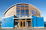 Lifeboat station building Mumbles, Gower peninsula, near Swansea, South Wales, UK