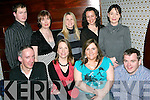 GOOD LUCK: Staff from Kerry County Council Corporate Affairs Dept. who were out in the Deacon, Tralee, on Friday night to bid farewell to Siobha?n Clancy, Manor Village,  and Anne O'Sullivan, Lixnaw, who are leaving the department to head to the Revenue Dept. and the Planning Dept. respectively. Front l-r: Gerard O'Brien, Siobha?n Clancy, Anne O'Sullivan and Paudi McCarthy. Back l-r: Diarmuid Ryan, Mary McCarthy, Eileen Foley, Julie Hegarty and Elaine Cotter.    Copyright Kerry's Eye 2008