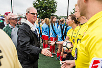 Boston, MA - Friday July 07, 2017: Tony DiCicco's former teammates greet the Boston Breakers prior to a regular season National Women's Soccer League (NWSL) match between the Boston Breakers and the Chicago Red Stars at Jordan Field.
