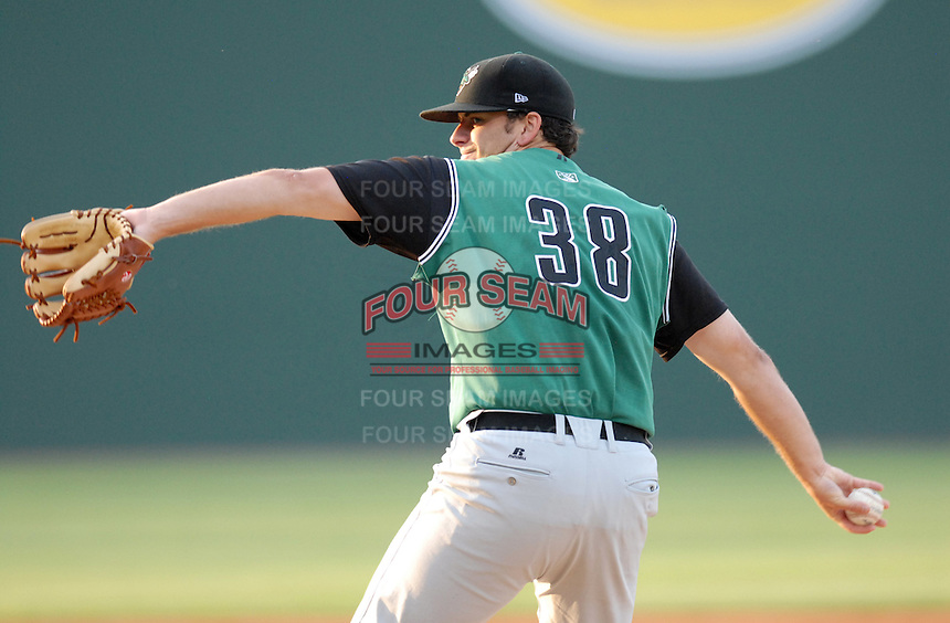 Jeremy Toole (38) was the starting pitcher for the Augusta GreenJackets at Spartanburg Night with the Greenville Drive on June 8, 2010, at Fluor Field at the West End in Greenville, S.C. Photo by: Tom Priddy/Four Seam Images