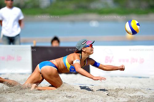 Shinako Tanaka (JPN),.MAY 5, 2012 - Beach Volleyball : JBV Tour 2012 Sports Club NAS Open at Odaiba Beach, Tokyo, Japan. (Photo by Jun Tsukida/AFLO SPORT) [0003].