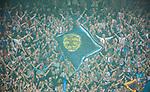 Solna 2014-08-13 Fotboll Allsvenskan AIK - Djurg&aring;rdens IF :  <br /> Djurg&aring;rdens supportrar<br /> (Foto: Kenta J&ouml;nsson) Nyckelord:  AIK Gnaget Friends Arena Allsvenskan Derby Djurg&aring;rden DIF supporter fans publik supporters