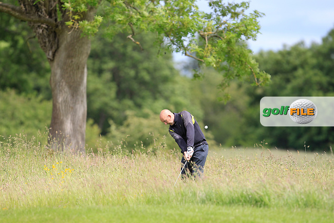 Tony McClements (Holywood) in the rough on the 18th during Round 3 of the Irish Mid-Amateur Open Championship at New Forest on Sunday 21st June 2015.<br /> Picture:  Thos Caffrey / www.golffile.ie