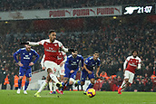 29th January 2019, Emirates Stadium, London, England; EPL Premier League Football, Arsenal versus Cardiff City; Pierre-Emerick Aubameyang of Arsenal scores a penalty for 1-0 in the 66 minute