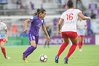 Orlando, FL - Saturday July 01, 2017: Marta, Sarah Gorden during a regular season National Women's Soccer League (NWSL) match between the Orlando Pride and the Chicago Red Stars at Orlando City Stadium.