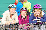 Lily, Eimear and Aoife Horgan Currow having fun at the charity cycle in Castleisland on Sunday morning