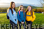 Mercy Mounthawk students, Eimear O'Dowd, Grace Foley and Paula Rogers attending the Transition Year Students Day in the Ballyroe Heights Hotel on Tuesday.