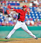 12 March 2012: Washington Nationals pitcher Sean Burnett on the mound during a Spring Training game against the St. Louis Cardinals at Space Coast Stadium in Viera, Florida. The Nationals defeated the Cardinals 8-4 in Grapefruit League play. Mandatory Credit: Ed Wolfstein Photo