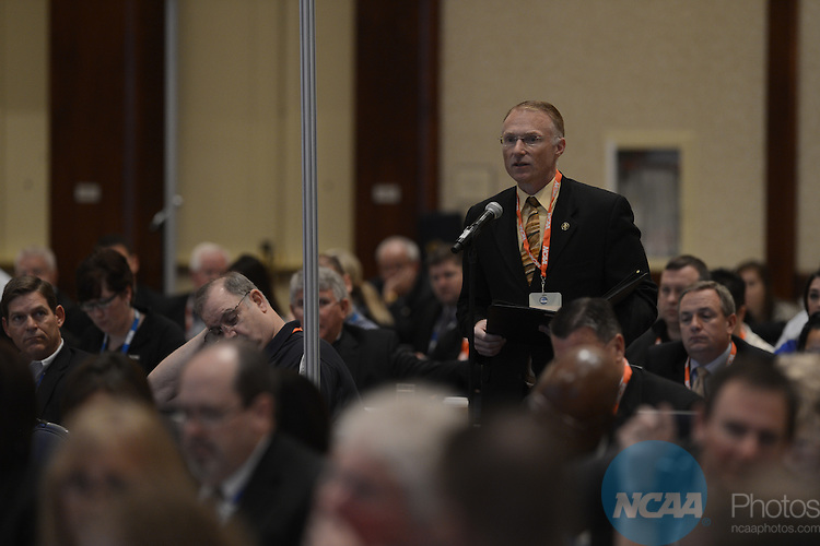 18 JAN 2014: The Division II Business Session takes place during the 2014 NCAA convention held in San Diego, CA. Justin Tafoya/NCAA Photos (Unidentified)