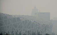 Aug. 6, 2008; Beijing, CHINA; View of the air quality in the Olympic green zone in Beijing. The Olympics begin at 8pm on August 8, 2008. Mandatory Credit: Mark J. Rebilas-