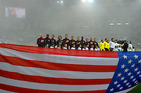 Team USA at the National Anthem before the friendly match Slovenia against USA at the Stozice Stadium in Ljubljana, Slovenia on November 15th, 2011.