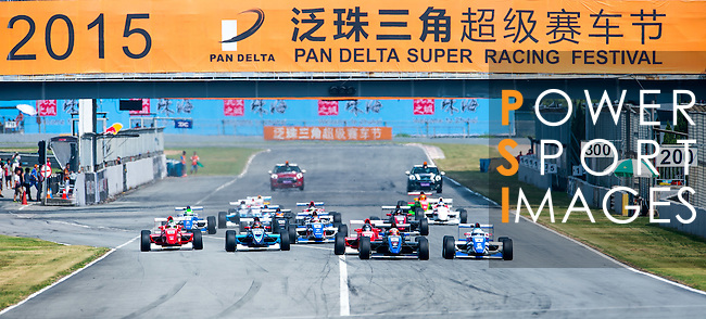 Drivers during the Formula Masters China Series as part of the 2015 Pan Delta Super Racing Festival at Zhuhai International Circuit on September 20, 2015 in Zhuhai, China.  Photo by Aitor Alcalde/Power Sport Images