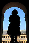 Statue of Napoleon Bonaparte in the hallway of Museum of the Army. Hotel les Invalides. Paris. City of Paris. France