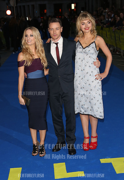 Joanne Froggatt, James McAvoy, Imogen Poots arriving for the UK premiere of Filth held at the Odeon - Arrivals<br /> London. 30/09/2013 Picture by: Henry Harris / Featureflash